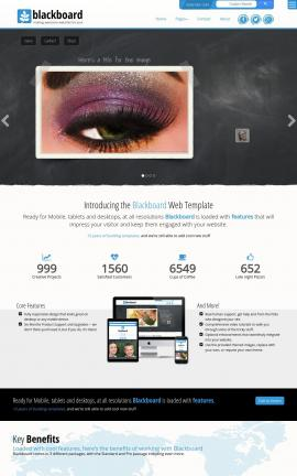 Blackboard Makeup-artist Website Template