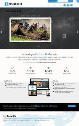 Blackboard Motocross Website Template