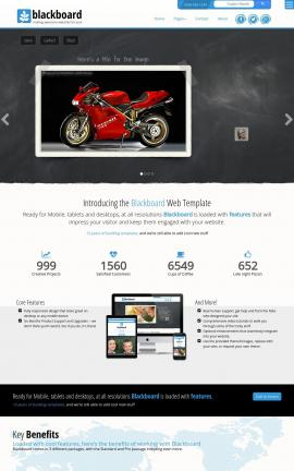 Blackboard Motorcycle Dreamweaver Template