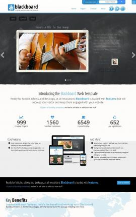 Blackboard Music Website Template