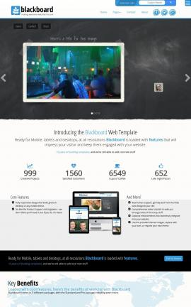 Blackboard Night-club Website Template