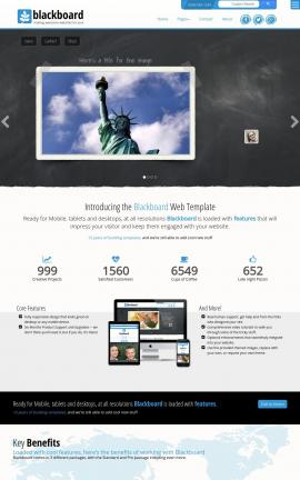 Blackboard Patriotic Web Template