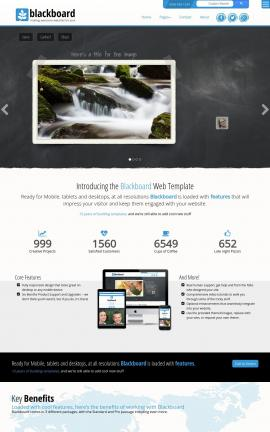 Blackboard Photography Website Template