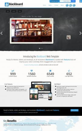 Blackboard Pub Website Template