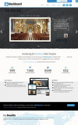 Blackboard Religion Website Template