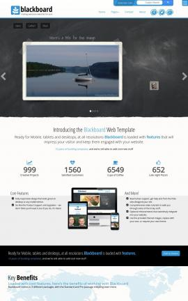 Blackboard Sailing Website Template