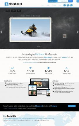Blackboard Snowmobile Website Template