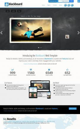 Blackboard Soccer Website Template