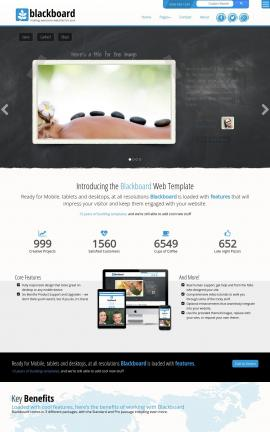 Blackboard Spa Website Template