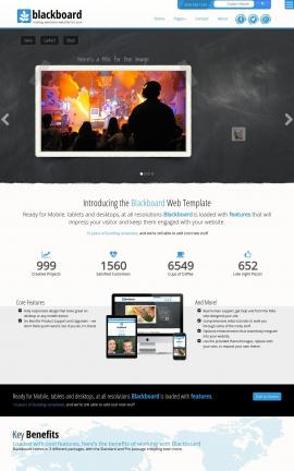 Blackboard Videography Website Template