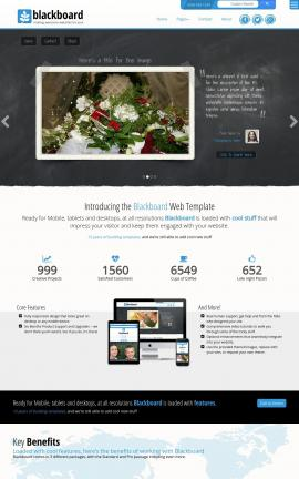 Blackboard Wedding Website Template