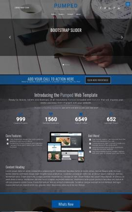 Pumped Business Website Template