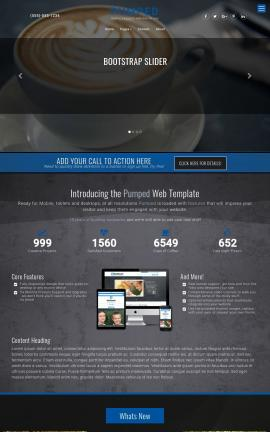 Pumped Cafe Website Template