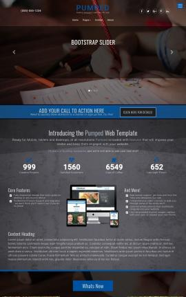 Pumped Child-care Website Template