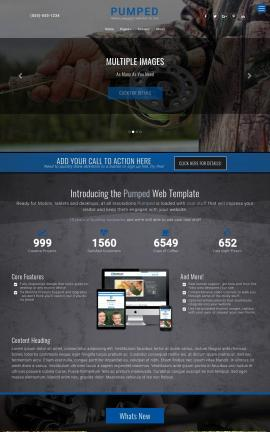 Pumped Fishing Website Template