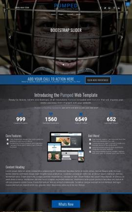 Pumped Hockey Website Template