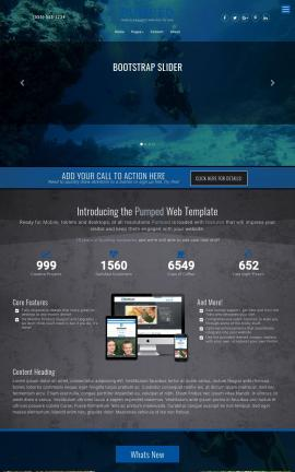 Pumped Scuba-diving Website Template