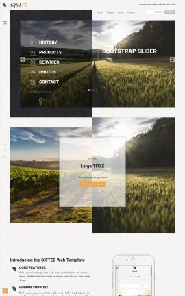 Gifted Agriculture Website Template