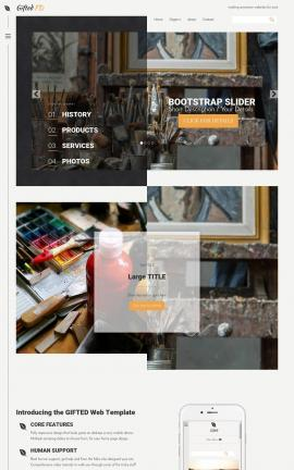 Gifted Art-supplies Website Template