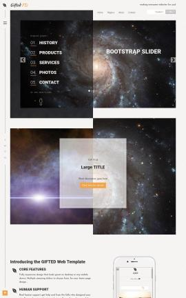 Gifted Astronomy Website Template
