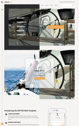Gifted Boating Website Template
