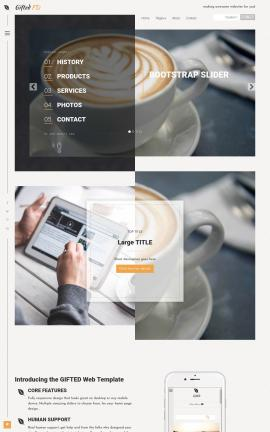 Gifted Cafe Website Template