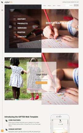 Gifted Child-care Website Template