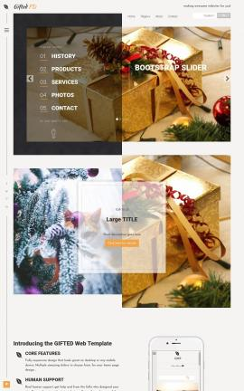 Gifted Christmas Website Template