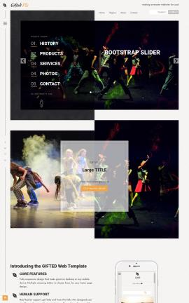 Gifted Dance Website Template