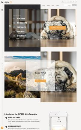 Gifted Dogs Website Template