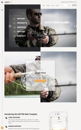 Gifted Fishing Website Template