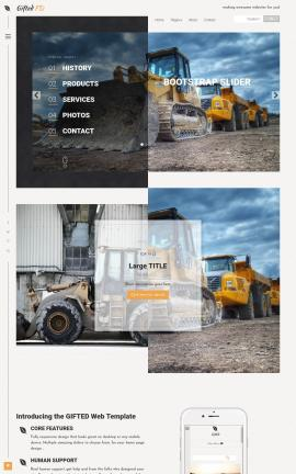 Gifted Heavy-machines Website Template