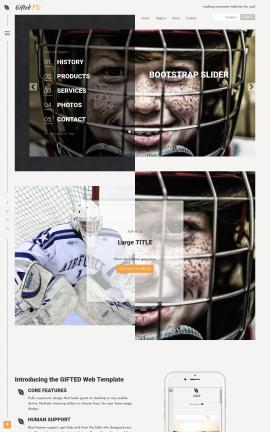 Gifted Hockey Website Template