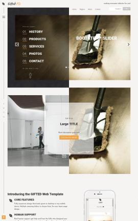 Gifted Janitorial Website Template