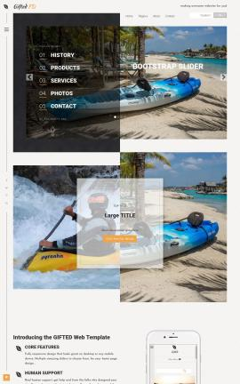 Gifted Kayak Website Template