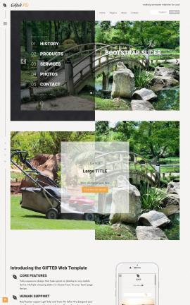 Gifted Landscaping Website Template