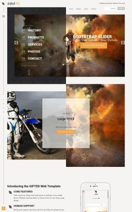 Gifted Motocross Website Template