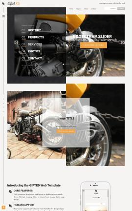Gifted Motorcycle Dreamweaver Template