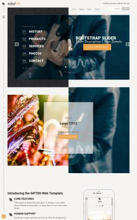 Gifted Music Website Template