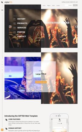 Gifted Night-club Website Template