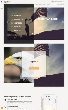 Gifted Patriotic Web Template