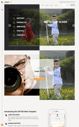Gifted Photography Website Template