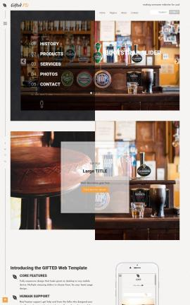 Gifted Pub Website Template