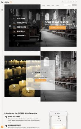 Gifted Religion Website Template