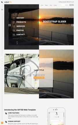 Gifted Sailing Website Template
