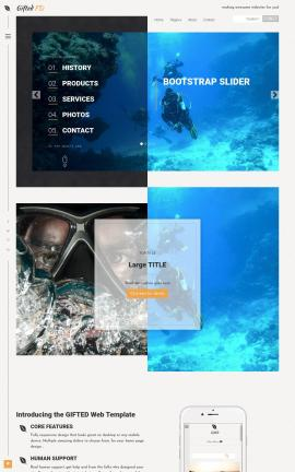 Gifted Scuba-diving Website Template