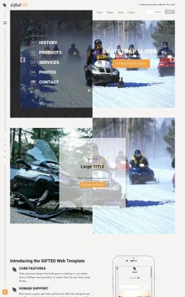 Gifted Snowmobile Website Template