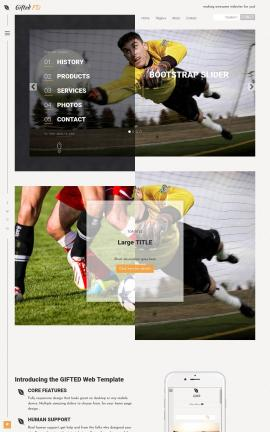 Gifted Soccer Website Template
