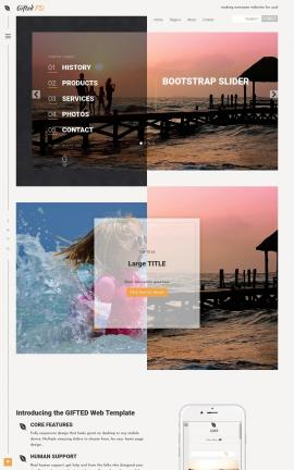 Gifted Travel Website Template
