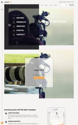 Gifted Videography Website Template